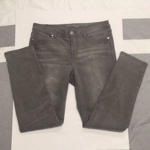 LC Lauren Conrad grey wash denim jeans size 10